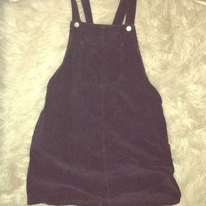 Topshop corduroy overall dress navy Moto petite